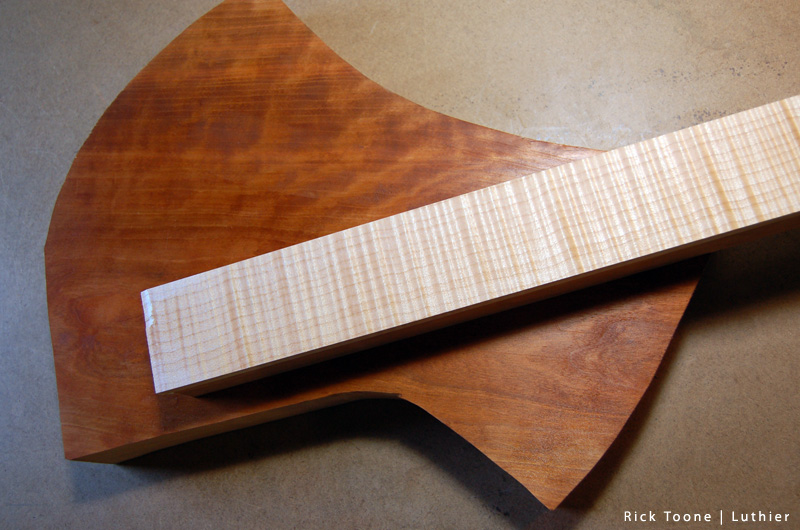 Figured Cherry Curly Maple Custom Guitar